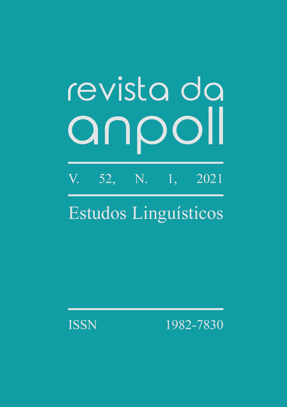 Capa do v. 52, n. 1, 2021, da Revista da Anpoll, dedicado aos Estudos Linguísticos.